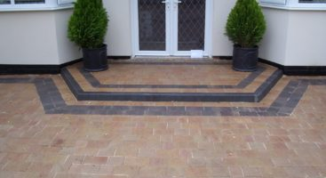 split block paving driveways